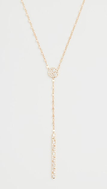 LANA JEWELRY 14k Scattered Diamond Charm Lariat Necklace