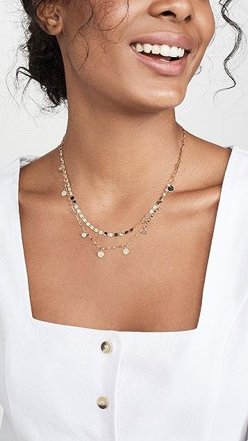 LANA JEWELRY Gypsy Disc Necklace