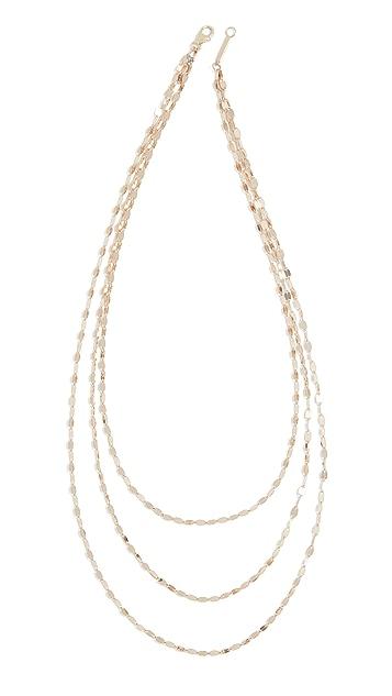 LANA JEWELRY 14k Mega Gloss Blake Triple Strand Necklace
