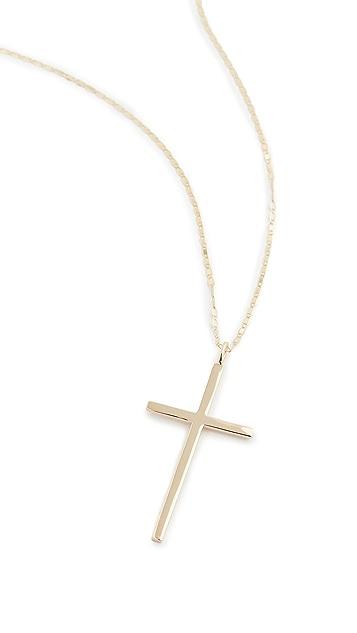 LANA JEWELRY 14k Malibu Cross Pendant Necklace
