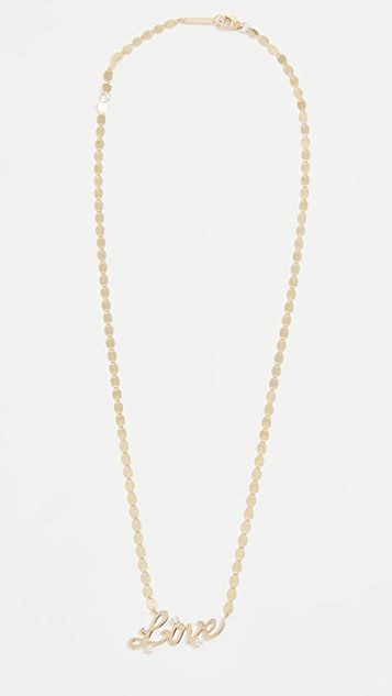 LANA JEWELRY 14k Solo Love Necklace