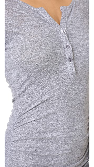 Lanston Ruched Henley Dress