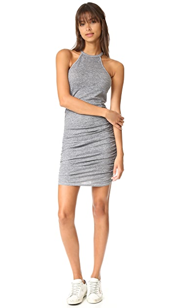 Lanston Ruched Halter Dress
