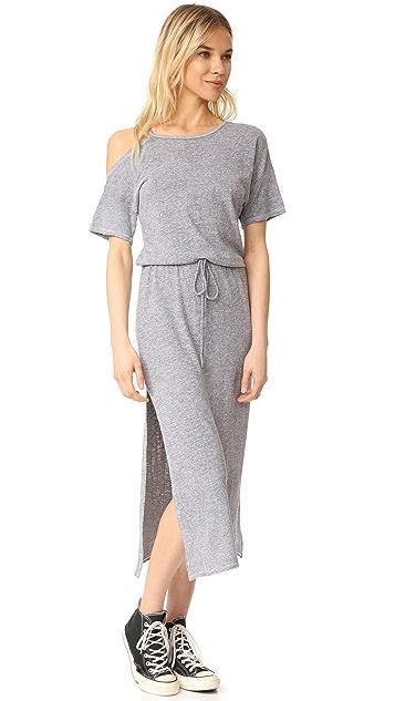 Lanston Cold Shoulder Tee Midi Dress