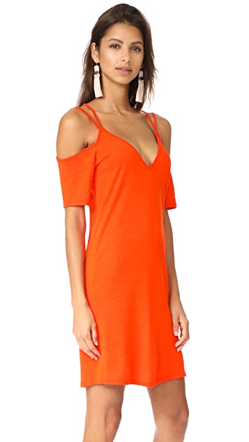 Lanston Cold Shoulder X Strap Dress