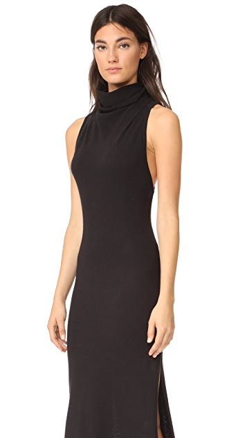 Lanston Turtleneck Slit Dress