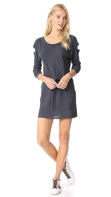 Lanston Drop Shoulder Cutout Mini Dress
