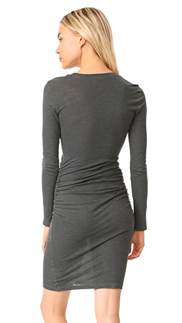 Lanston Ruched T-Shirt Dress