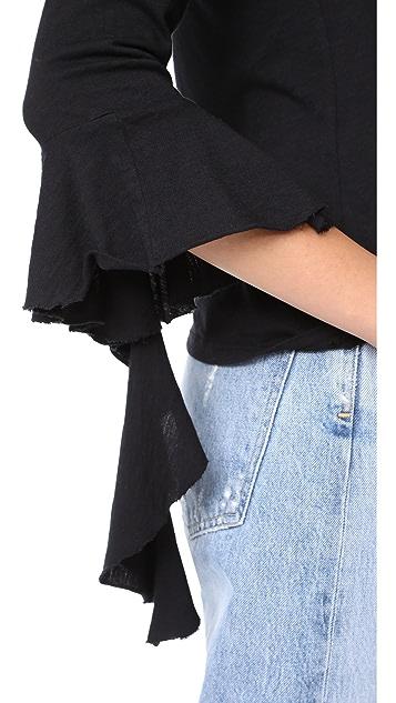 Lanston Ruffle Long Sleeve Top