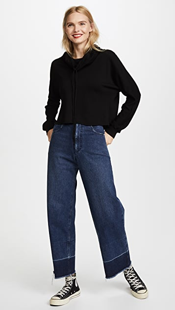 Lanston Funnel Neck Crop Pullover