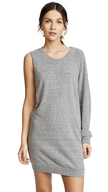 Lanston One Sleeve Mini Sweatshirt Dress