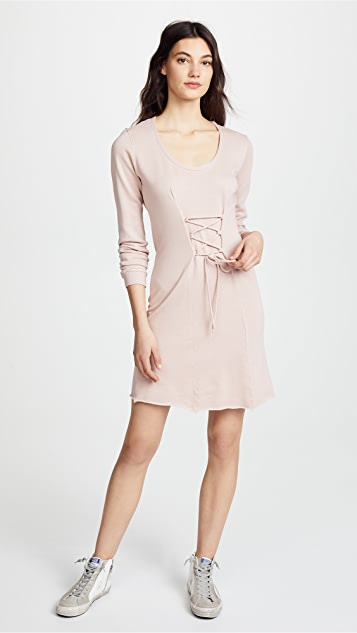Lanston Corset Long Sleeve Mini Dress