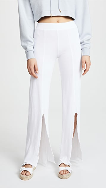 Lanston Slit Front Sweats - White