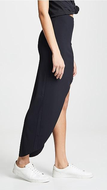 Lanston Ribbed High Low Skirt