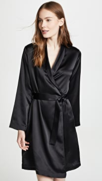 Silk Short Robe