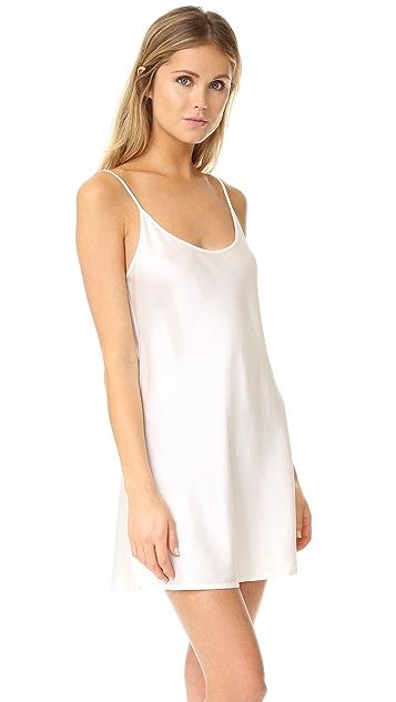 Silk Chemise dress - White La Perla Outlet Factory Outlet T5ArSg