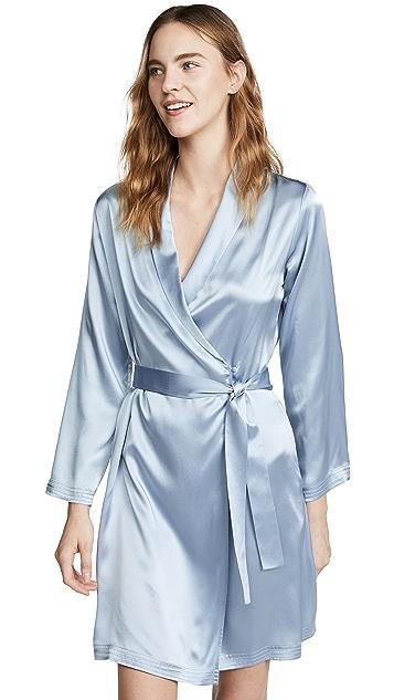 La Perla Classic Silk Short Robe