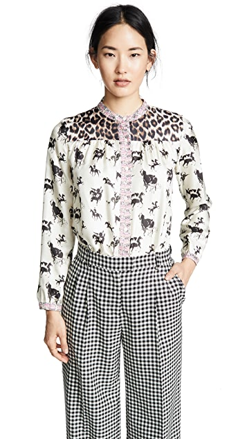 La Prestic Ouiston Love Multi Button Down Shirt