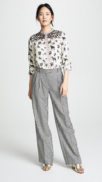 La Prestic Ouiston Marlene Plaid Trousers