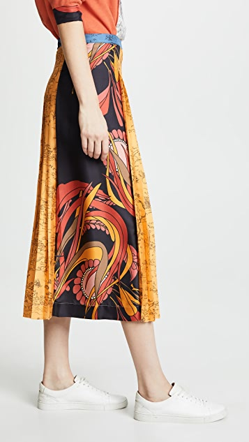 La Prestic Ouiston Pleat Front Skirt