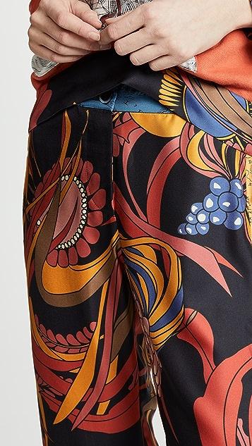 La Prestic Ouiston Riviera Mix Print Pants