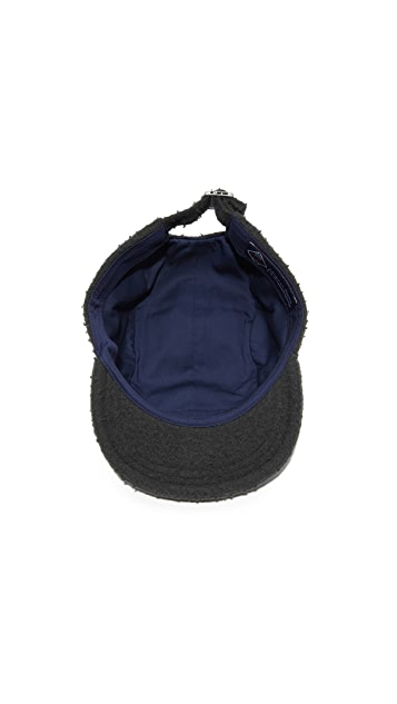 Larose Casentino Wool 5 Panel Zip Cap
