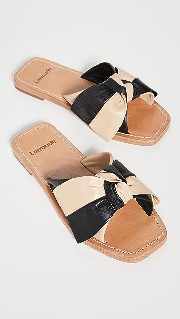 Larroude Eloise 蝴蝶结凉拖鞋