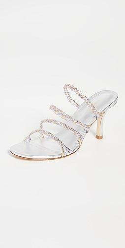 Larroude - Ibiza 梭织凉鞋