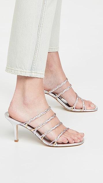 Larroude Ibiza Woven Sandals