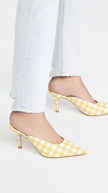 Larroude Lady 尖头穆勒鞋