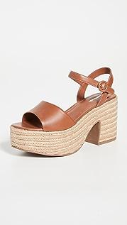 Larroude Jane 粗跟凉鞋