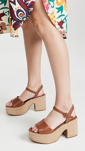 Larroude Jane Block Heel Sandals