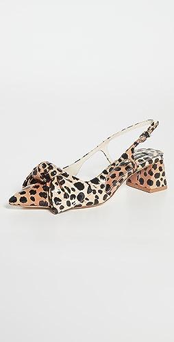 Larroude - Elle 粗跟浅口高跟鞋