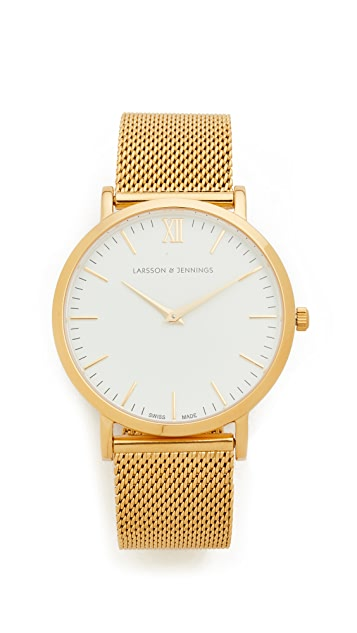 Larsson & Jennings Lugano Watch - Gold/White