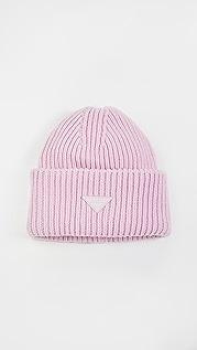 LAST 宽大浅粉色帽子