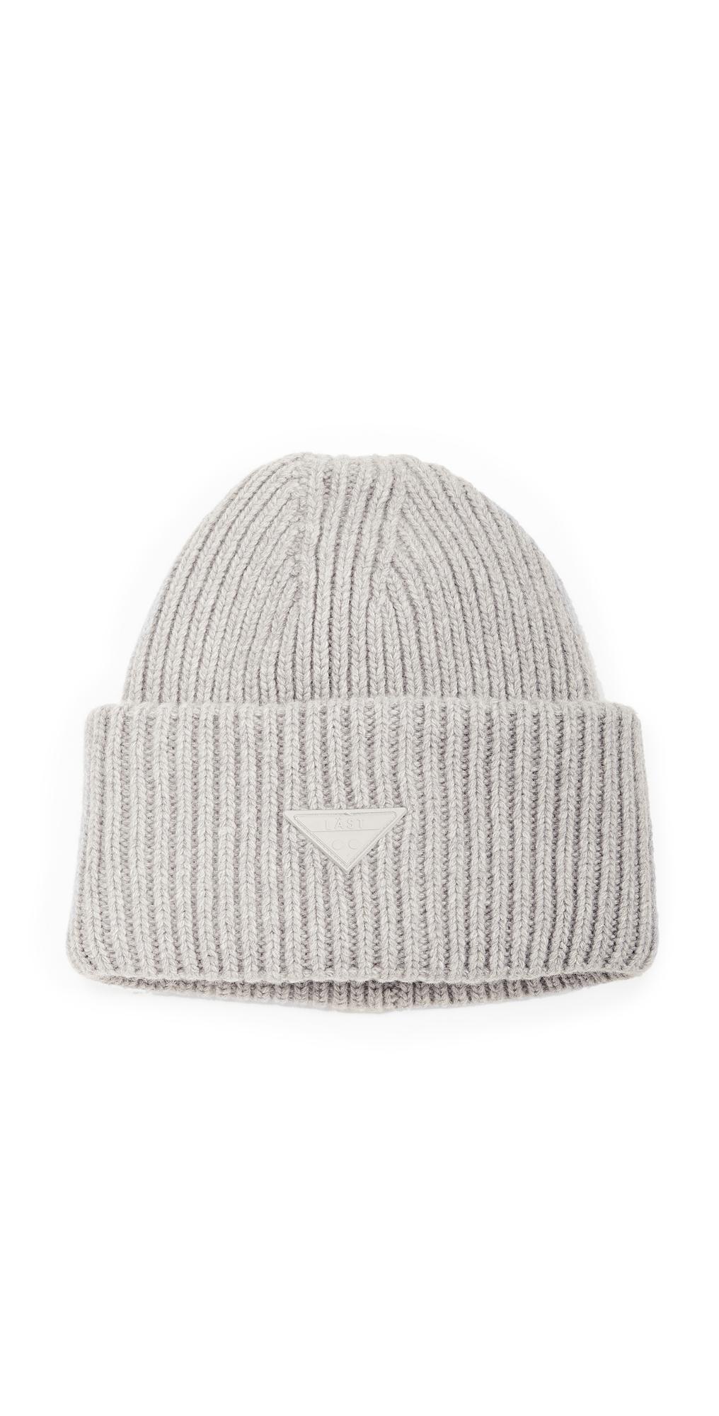 Oversize Grey Melange Hat