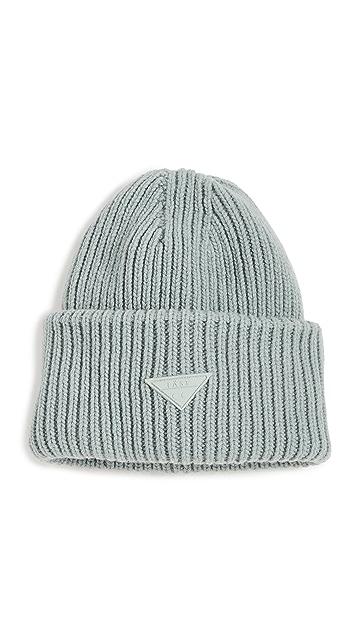 LAST 超大淡绿色毛线帽