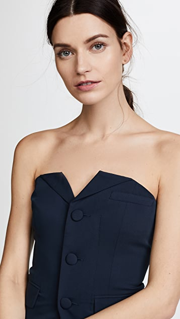LAVEER Bustier Suiting Top