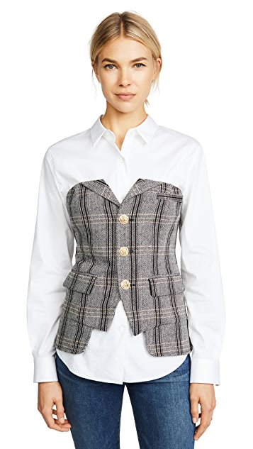 LAVEER Button Up Bustier