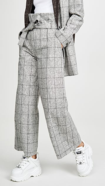 LAVEER Paperbag Belted Trousers
