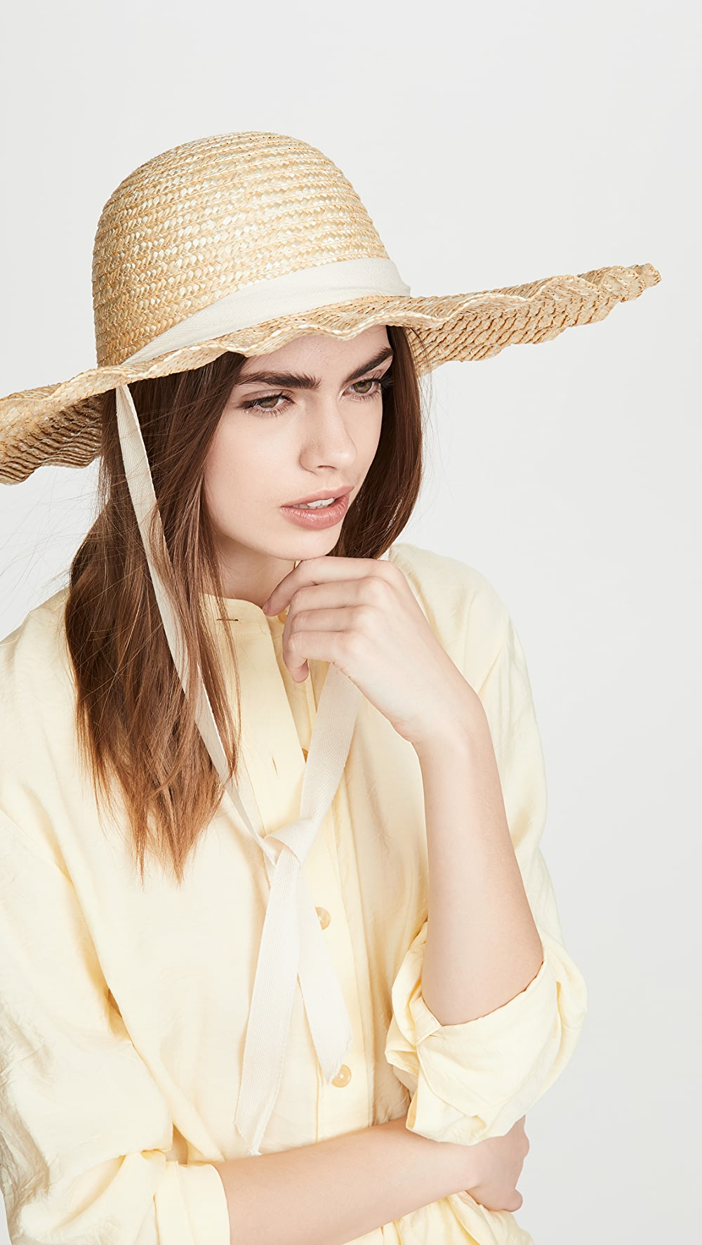 Enthusiastic Lack Of Color - Scalloped Dolce Hat Without Return