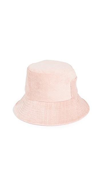 Lack Of Color Terry Cloth Wave Bucket Hat