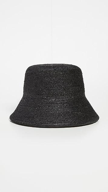 Lack Of Color Raffia Bucket Hat