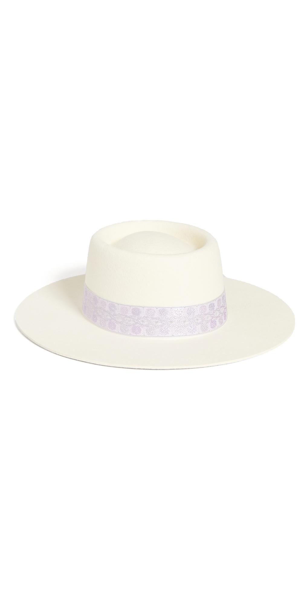 Lavender Lolita Boater Hat