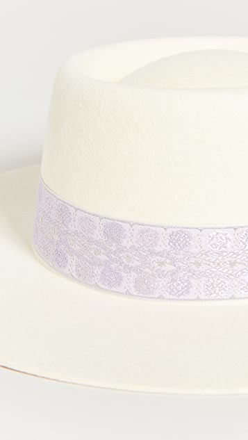Lack Of Color Lavender Lolita Boater Hat