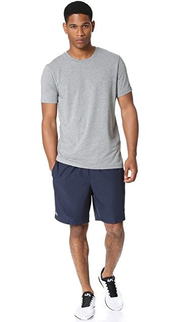Lacoste Diamond Weave Taffeta Tennis Shorts