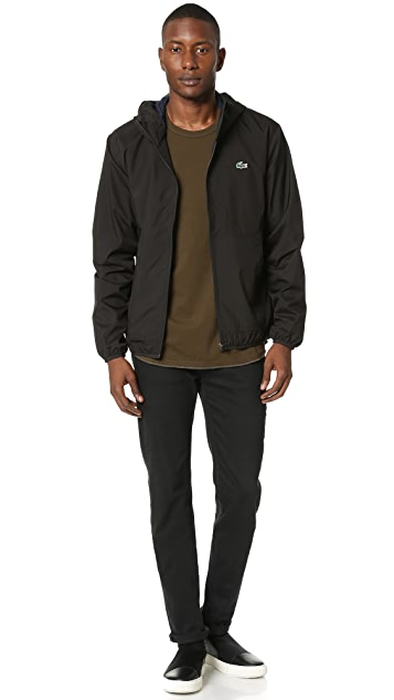 Lacoste Lightweight Nylon Hooded Jacket
