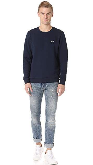 Lacoste Sport Fleece Crew Neck Sweatshirt
