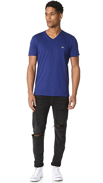 Lacoste V Neck Tee