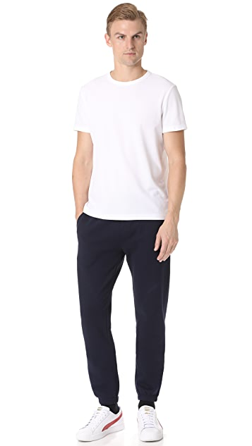 Lacoste Sport Fleece Pants with Elastic Leg Opening